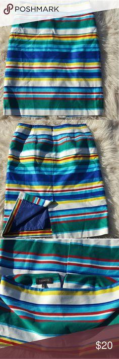 "Talbot multicolor striped skirt 24"" long. Good condition. Talbots Skirts Mini"