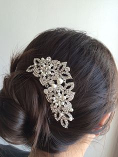 bridal comb wedding hair comb wedding comb by LuxeBridalDesign