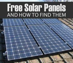Cheap Ways To Get Solar Panels For Your House Good