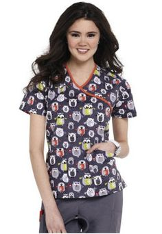 Dickies EDS print scrub top. - Scrubs and Beyond