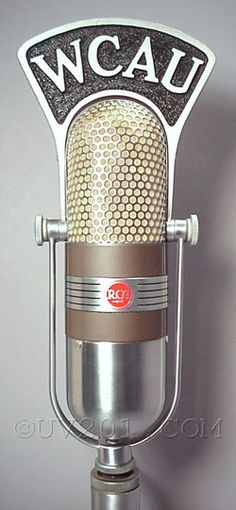 Dieselpunk: RCA 77-D Pattern Selection microphone, 1945