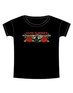Guns N Roses Roses & Pistols Womens T-Shirt - Guaranteed Authentic.  Fast Shipping.