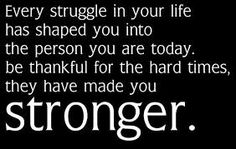 To make you stronger