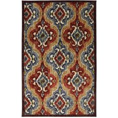 "Mohawk Home Primary Ikat Nylon Rug, Primary 8'X10"" $94.00 not bad!"