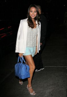 Jamie Chung-- that bag!!