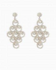 Chandelier earrings Long Rhinestone by QueenMeJewelryLLC on Etsy ...