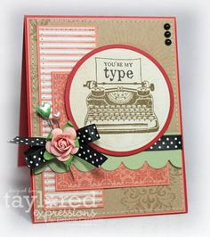 You're my Type / Love it! Love the layers and different shapes would be pretty with flower in center