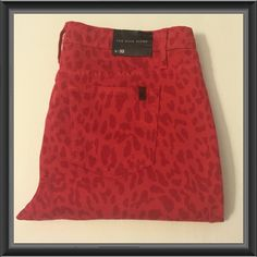 Red animal print jeans Awesome fun jeans red with leopard spots Joe's Jeans Jeans Straight Leg