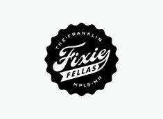 Mpls Bike Gangs / The Franklin Fixie Fellas in Typography Logo Branding, Branding Design, Logos, Brand Identity, Ui Design, Typography Design, Lettering, Retro Typography, Bike Logo