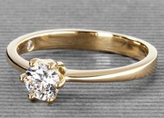 Flora in gold with a 0,32 ct. brilliant #Yorxs #Diamantring