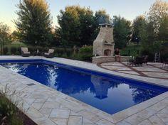 Palm Beach Style Fiberglass Inground Pool   Luxury Pools and Living