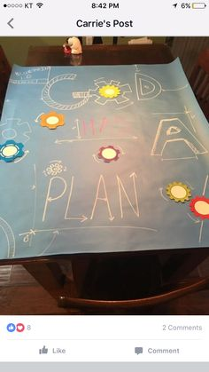 God has a plan Bible School Crafts, Sunday School Crafts, Gadgets And Gizmos Vbs, Construction Theme Classroom, Kids Church Rooms, Maker Fun Factory Vbs, Kids Sunday School Lessons, 2017 Vbs, Imagination Station