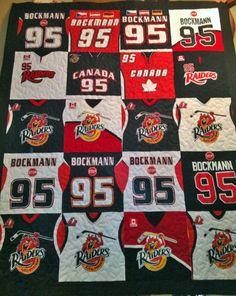 Football jersey quilt | Quilts | Pinterest | Jersey quilt, Craft ... : jersey quilt - Adamdwight.com