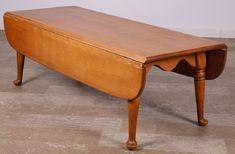 Ethan Allen Maple Birch Drop Leaf Pembroke Table on
