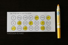Bingo dab sight words. Fun sight word activity for kids