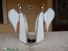 Tiffany dupla angyalos mécsestartó (diszuvegezes) - Meska.hu