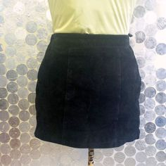 Vintage 1980's Black Suede Mini Skirt - David Benjamin Collection #fashion #vintage #boho #ebay