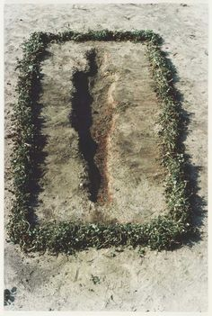 """My art is grounded on the belief in one universal energy which runs through everything; from insect to man, from man to specter, from specter to plant, from plant to galaxy."" Ana Mendieta"