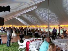Tent lighting. Sunset themed wedding lighting. Duluth Event Lighting. Lighting décor, up lighting, bridal lighting. Wedding photography. www.dulutheventlighting.com