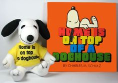 Snoopy Plush Book And Doll Gift Set - Home Is On Top Of A Doghouse: Snoopn4pnuts.com
