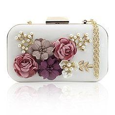 J&F Sac de Soirée Féminin Wallet Sac à Main Fleur Portefeuille de Perles Handbag Pochette 2017 #2017, #Pochette