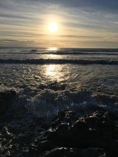 Ogmore beach sunset