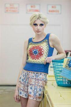 Crochet lace looks great on this vest. Tribbles Vests - Media - Crochet Me