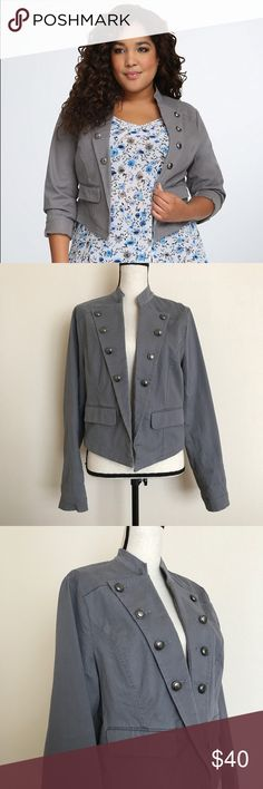 Torrid Gray Military Jacket Great Pre-Owned Condition. torrid Jackets & Coats Blazers