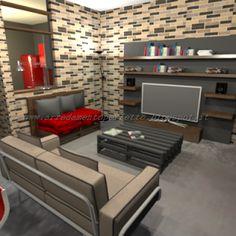 la zona studio nella mansarda | la cameretta in mansarda by ... - Soggiorno Urban Chic