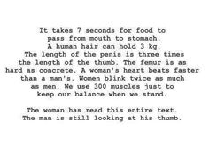 Men versus women