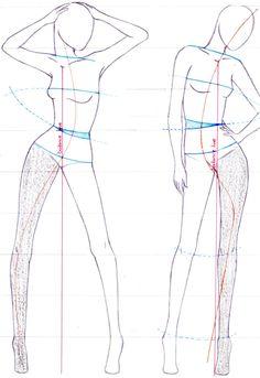 Fashion drawing pose