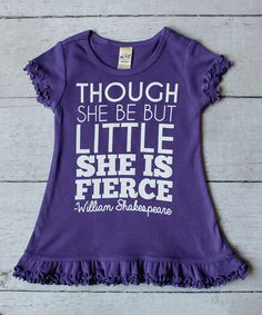 Look at this Purple 'She Is Fierce' Ruffle Dress - Infant, Toddler & Girls on #zulily today!