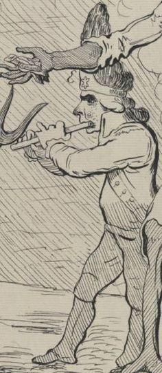 The Recruiting Sergeant Enlisting John Bull 1791 Fifer Detail