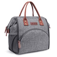 LOKASS Lunch Bag Insulated Lunch Box Wide-Open Lunch Tote Bag Large Drinks Holder Durable Nylon Thermal Snacks Organizer for Women Men Adults College Work Picnic Hiking Beach Fishing,Grey - SlimFast Keto Sac Lunch, Lunch Tote Bag, Picnic Bag, Thermal Lunch Bag, Insulated Lunch Tote, Pecan Cobbler, Nylons, Large Lunch Bag, Large Bags