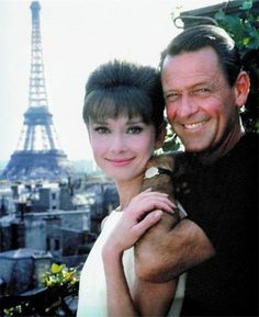 Audrey Hepburn and William Holden on the set of Paris When It Sizzles 1964.