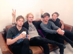 5 Seconds Of Summer at MTVUK yesterday