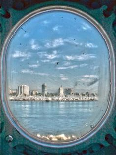 size: Giclee Print: Porthole Views by Toula Mavridou-Messer : Framed Artwork, Wall Art, Online Gallery, Prints For Sale, Gradient Color, Printing Process, Find Art, Airplane View, Giclee Print