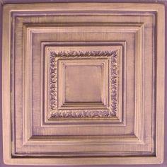 """Antyx Antique Copper Chocolate (24x24"""" Pvc) Ceiling Tile Antique Ceilings"""
