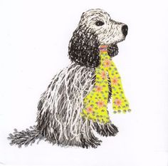 Black  amp  White cocker spaniel Luxury Glitter notebook £9.95 White Cocker  Spaniel 8ea7aa9f1