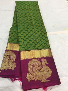 Kanjivaram Sarees Silk, Crepe Silk Sarees, Kanchipuram Saree, Pure Silk Sarees, Cotton Saree, Katan Saree, Sarees For Girls, Wedding Saree Collection, Wedding Silk Saree