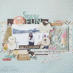Layout from creative team member Stacy Koo with our Winter Wonderland collection