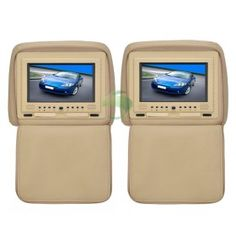 7 inch Headrest Car DVD Player and Protective Screen Cover(Games,FM,1 Pair)