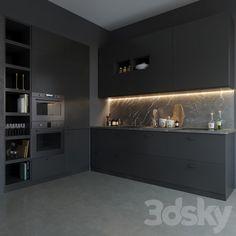 Black Ikea Kitchen, Ikea Kitchen Design, Ikea Kitchen Cabinets, Black Kitchens, Kitchen Layout, Kitchen Interior, New Kitchen, Cool Kitchens, Ikea Kitchens