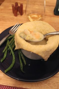 Easily Adaptable Shrimp and Scallop Pot Pie or Chowder Seafood Pot Pie, Seafood Recipes, Creamy Sauce, Scallops, Chowder, Meal Prep, Shrimp, Food And Drink, Runway