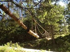 Image result for wood outdoor obstacle trails with exercise stations