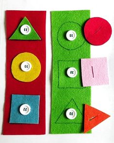 Preschool New activity for working with geometric figures and fine motor skills . - Preschool New activity to work with geometric figures and fine motor skills … – In the first mo - Motor Skills Activities, Preschool Learning Activities, Infant Activities, Preschool Activities, Kids Learning, Learning Games, Educational Activities, Fine Motor Skills, Crafts For Kids