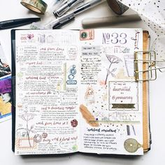 Week 33 in my Traveler's Notebook, this time decorated by lovely @janniemay. It was fun to build on her flower stamps and vintage theme