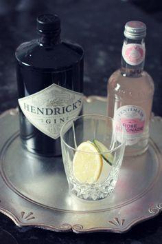 Hendrick's and pink lemonade.