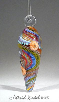 Carousel  -Lampwork  lentil shape focal bead-70mm. $125.00, via Etsy.