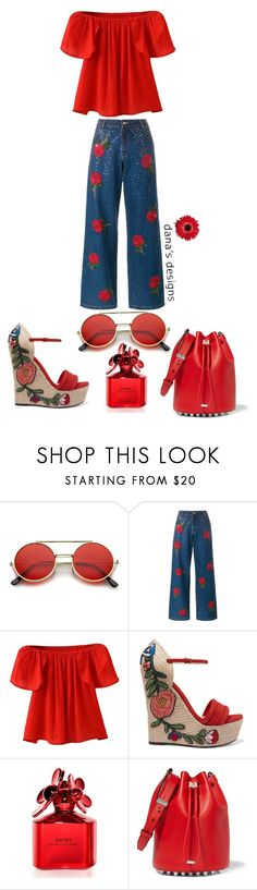 """""""DDKJQ_Homemade_PotatoeSalad"""" by aka85 ❤ liked on Polyvore featuring Ashish, WithChic, Gucci, Marc Jacobs and Alexander Wang"""